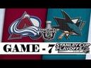 Colorado Avalanche vs San Jose Sharks | Second round | Game 7 | Stanley Cup 2019 | Обзор