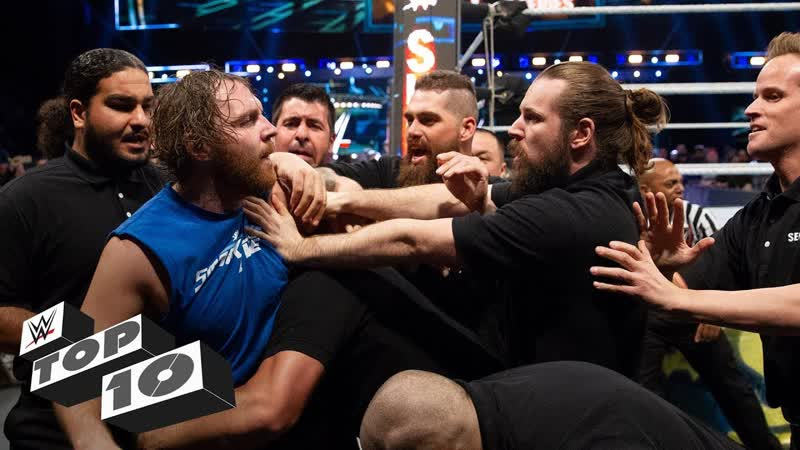 [WWE QTV]☆[Top 10]Security guards get wrecked]