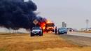 Crazy School bus fire