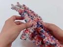 Plaster based 3D molecular model of Flagellin