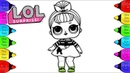 LOL Surprise Doll Coloring Book How to Draw LoL Surprise Doll Nancy Coloring page for kids