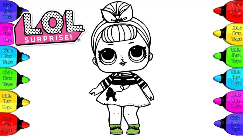 LOL Surprise Doll Coloring Book | How to Draw LoL Surprise Doll Nancy Coloring page for kids