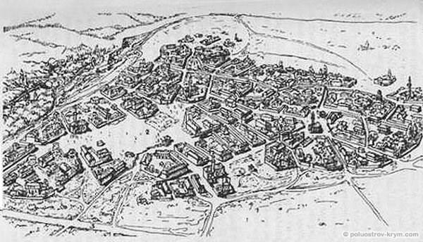 Средневековый город Акмечеть - часть нынешнего Симферополя. Реконструция
