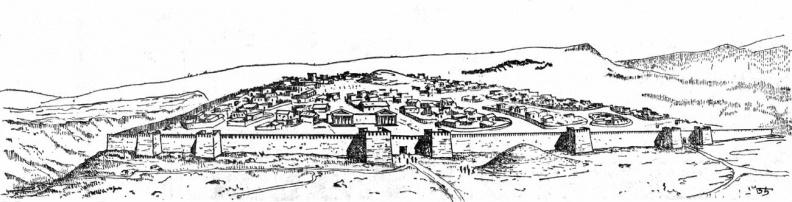 Реконструкция Б. В. Кондрацкого выполненная по материалам археолога Т. Н. Высоцкой.