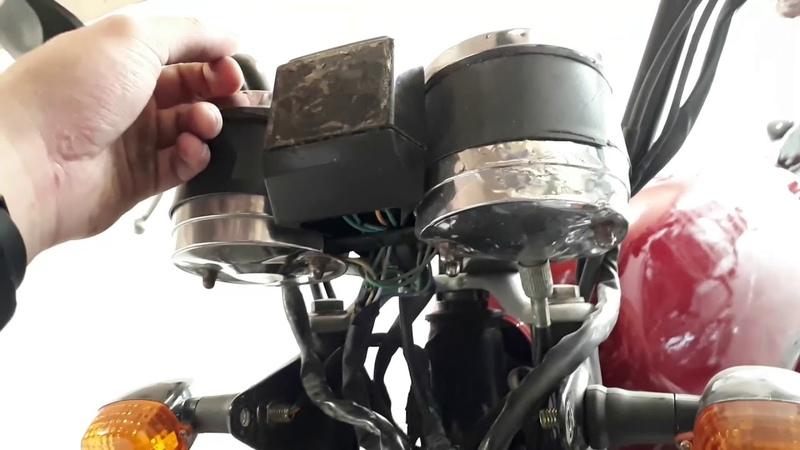 Передняя часть проводки мопеда Альфа Подключение стартера и света