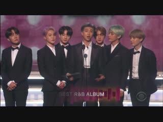 190211 BTS Presents Award 'Best R&B album' @ 2019 GRAMMY Awards