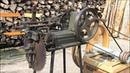 3. Поля низкого Бемер деревня (Niederböhmersdorf) 1/5 - деревообработки - заточка диска циркулярной пилы, цепная бензопила идущай по дереву, машина плетущая сено, механический колун.