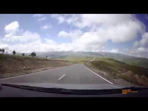 Шикарный вид на Эльбрус на регистратор из авто