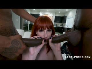 Alex harper takes two big black dicks at once ab020 [redhead, dp, a2m, anal, toys, interracial, gape]