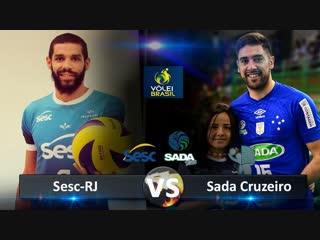 Sada cruzeiro vs sesc-rj. highlights. brazilian volleyball super league.