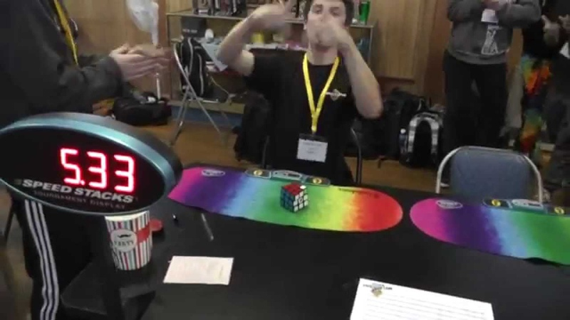 Rubik's cube world record fail 5 33 DNF