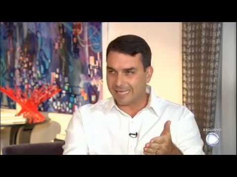 ENTREVISTA DE FLÁVIO BOLSONARO NO DOMINGO ESPETACULAR NA REDE RECORD - 20.01.2019