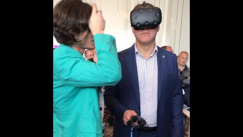 Презентация виртуальной реальности для Губернатора Самарской области Азарова Д. И.