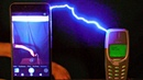 Charging NOKIA 3310 with one million volts! A 10-core Smartphone vs NOKIA! Who wins?