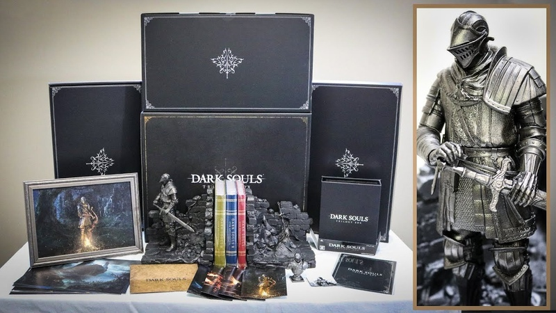 Dark Souls Trilogy box english unboxing (japanese PS4 exclusive collectors edition)