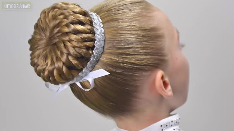 New Years Eve Hair Style✨Perfect Braided Bun with Hair Donut✨Amazing Easy Hairstyles for Girls19