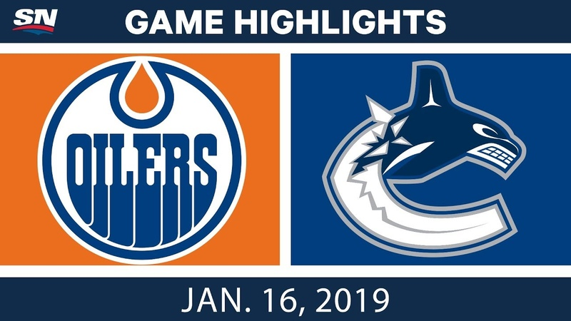NHL Highlights Oilers vs Canucks Jan 16 2019