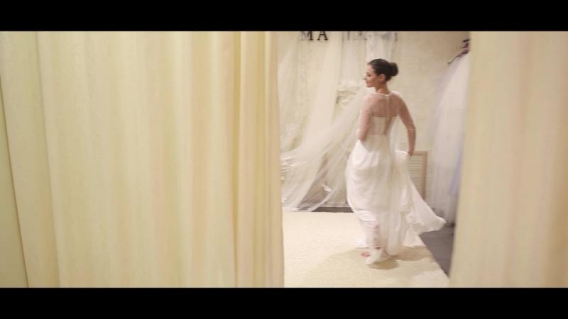Настенька и выбор платья в салоне MARIAGE