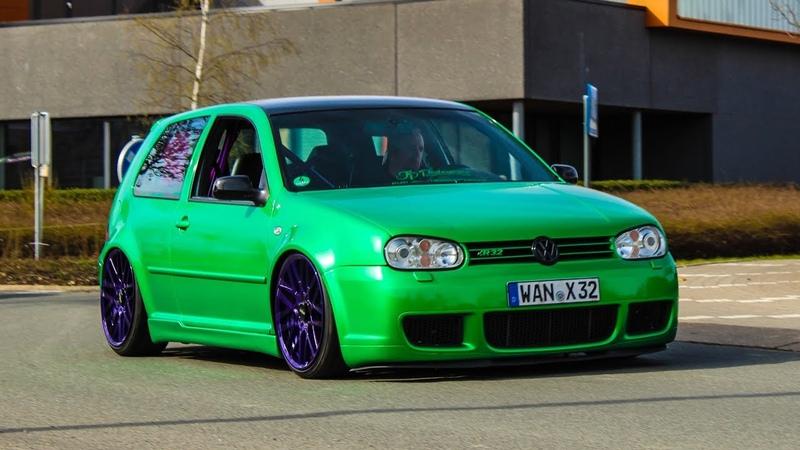 Volkswagen Golf R compilation - Accelerations, Flames, sounds, Crackles