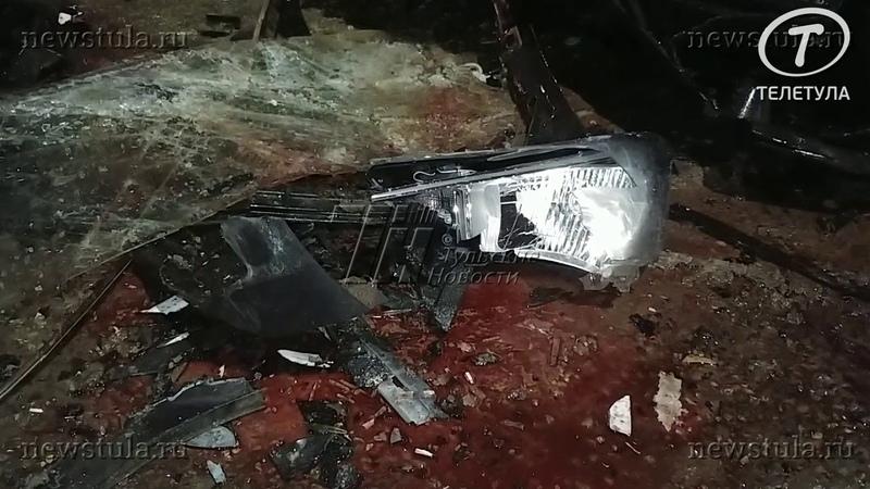 В тульской деревне Барсуки в ДТП погибла женщина и пострадал ребенок