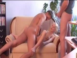 Flexi monroe(катя рысь) get two cocks