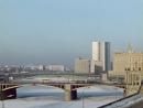 Смоленская набережная, 1971. Бородинский мост, метромост, здание СЭВ и никакого Белого дома на заднем плане. Джентльмены удачи