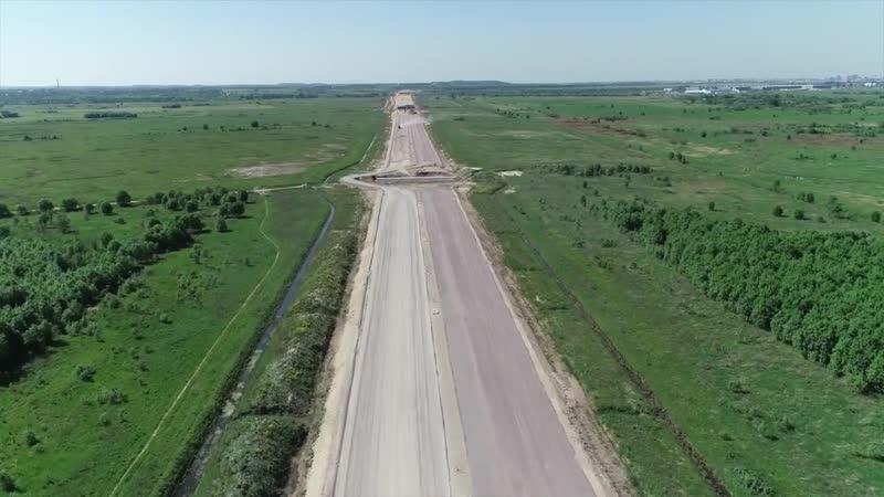 Новая трасса м-11. Май 2018 г. Развязка Колпинского шоссе.(Славянка)