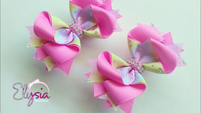 Mini Exotico Ribbon Bow Tutorial 🎀 DIY by Elysia Handmade