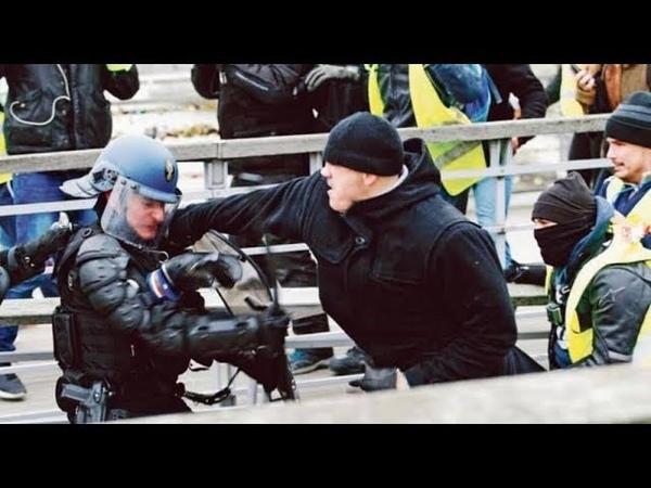 Чемпион Франции по боксу, с Народом Франции против полиции!