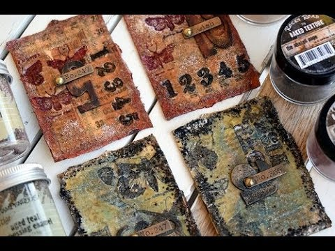 Embossed and Baked ATC Cards Tutorial