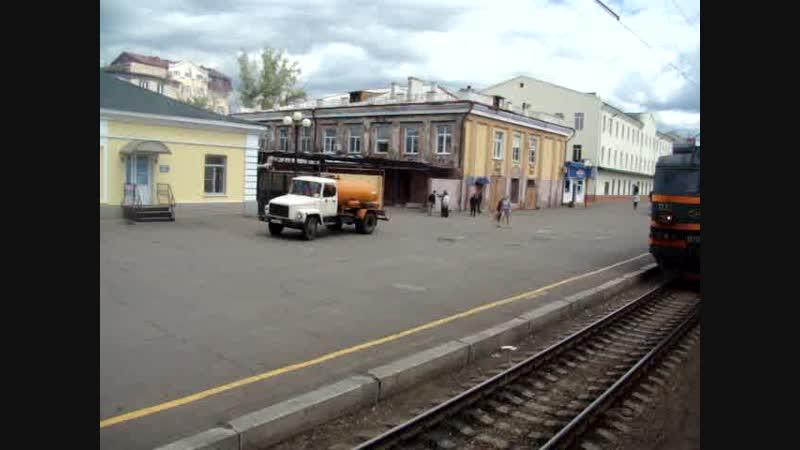 Электровоз ВЛ85-032 с грузовым поездом на ст. Чита-2