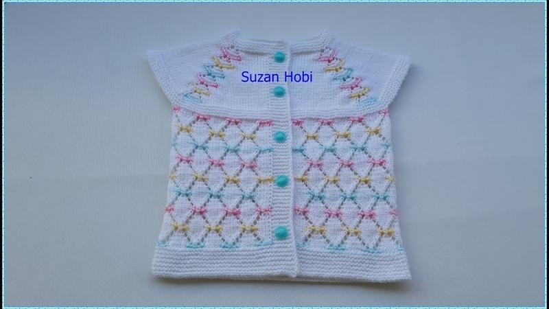 Ajurlu Baklava Dilimi Modeli , Kız Bebek Yeleği (Detaylı Anlatım) 1. Bölüm bebekyeleği knitting