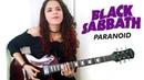 Black Sabbath - Paranoid Guitar Cover Noelle dos Anjos