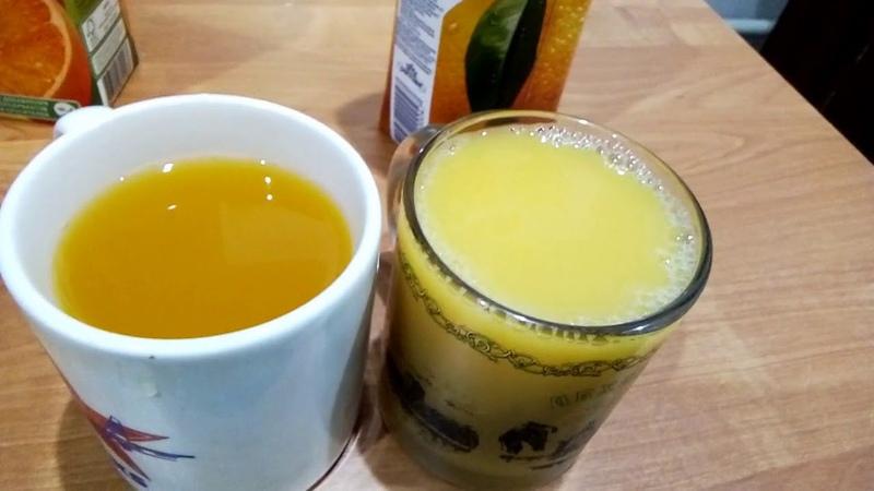 Апельсиновый сок за 55 рублей и 105 рублей
