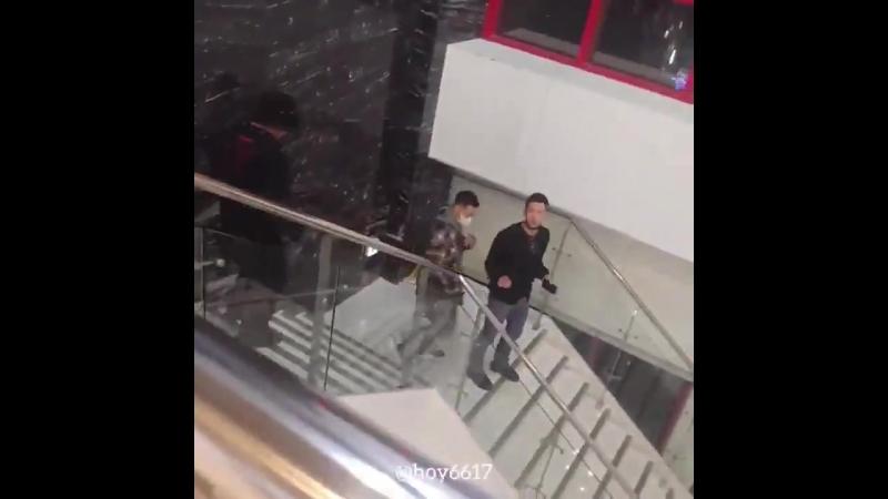 Чжи Чан Ук и Ким Сон Гю на мюзикле Человек, который смеется 26.09.2018