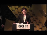 JD presents Keith Richards with GQ Award