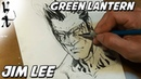 Jim Lee drawing Green Lantern Kyle Rayner