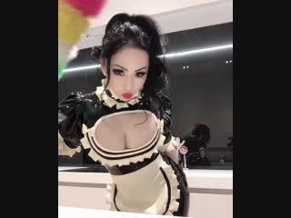 My sexy housekeeper in latex outfit