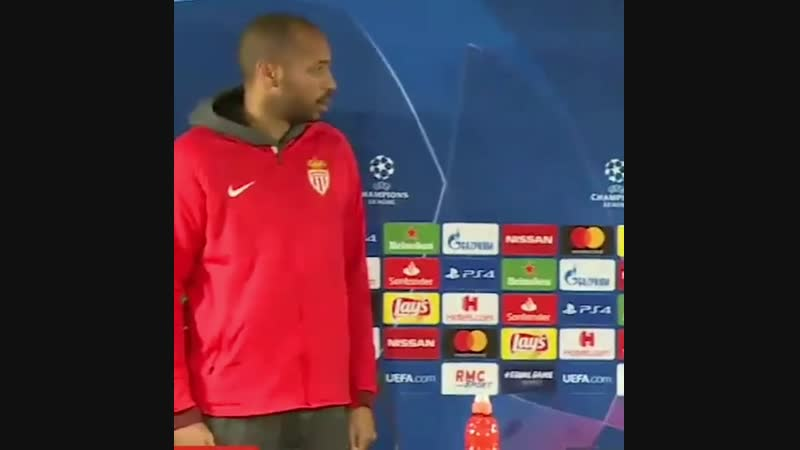 Tierry Henry on press-conference CL
