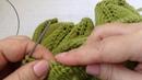 Зеленый свитер Листья на ветке . МК 6