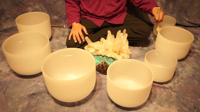~Crystal Bowl Chakra Meditation~70 Min~Crown thru Root~