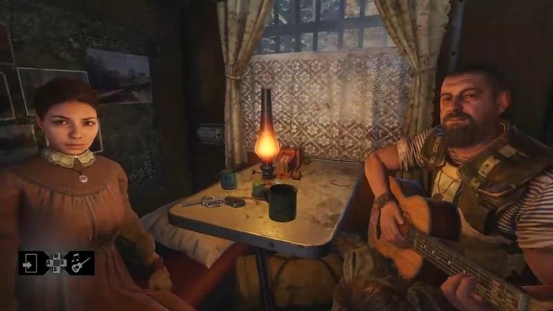 Metro Exodus Вечер музыки Артем и Степан играют на гитарах