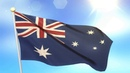 Free Video Footages - National Flag of Australia Waving , Australia Flag animation background