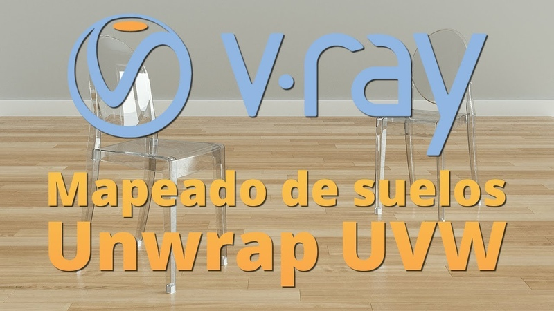 Mapeado de suelos de madera con Unwrap UVW y V-Ray NEXT