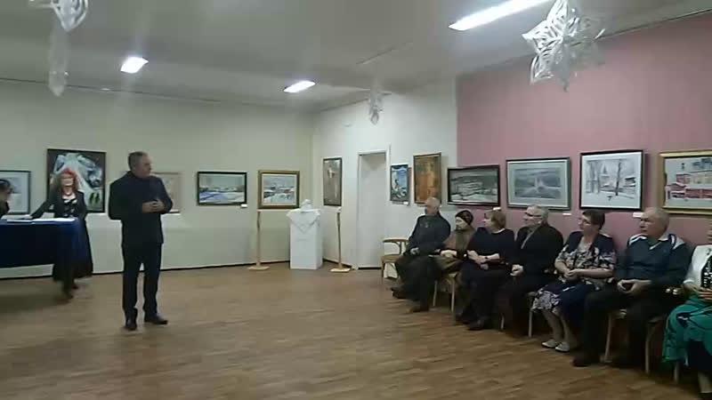 Открытие рождественской выставки членлв МООО ТСХ Московиты