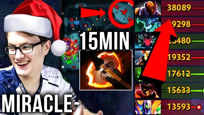 Miracle- Signature Anti-Mage 15MIN Battle Fury - Last Game Before X-Mas Evening - Dota 2 Gameplay