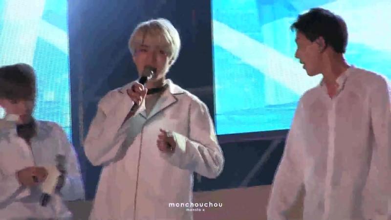 [VK][160819] MONSTA X fancam - Talk (Minhyuk focus) @ K-Pop Wave Festival