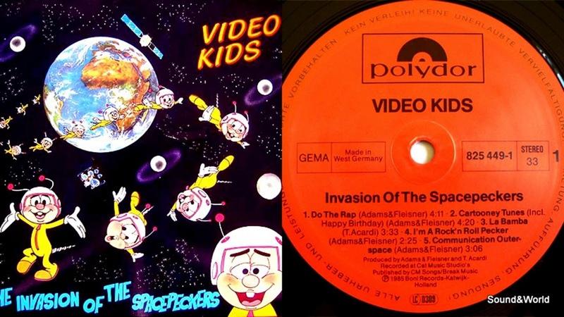 Video Kids – The Invasion Of The Spacepeckers (Vinyl, LP, Album) 1985.