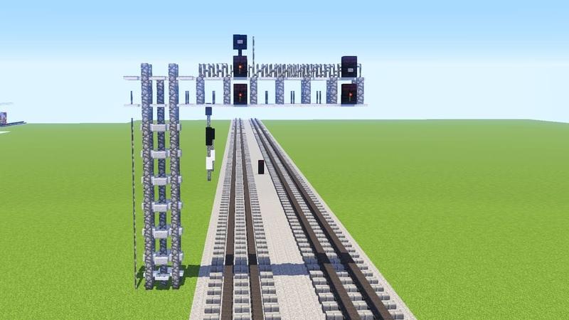 Minecraft Railroad Signal Bridge Tutorial