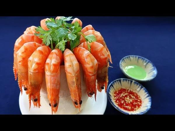 Món Ăn Ngon - TÔM LUỘC NƯỚC DỪA, Tôm Hấp Trái Dừa Tươi Ngon Tuyệt